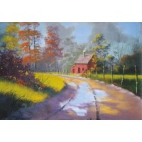 3300 COUNTRY ROAD - BEGINNERS OIL PAINTING